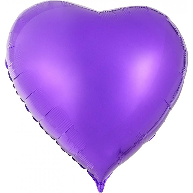 Сердце Фиолетовый 76см