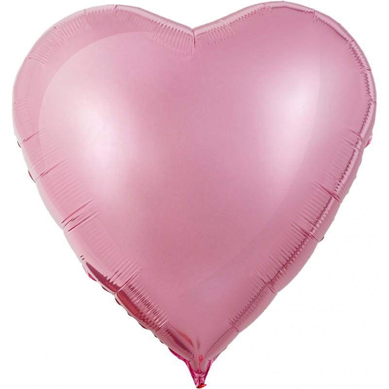 Сердце Розовый Фламинго 76см