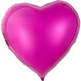 Сердце Лиловый 76см