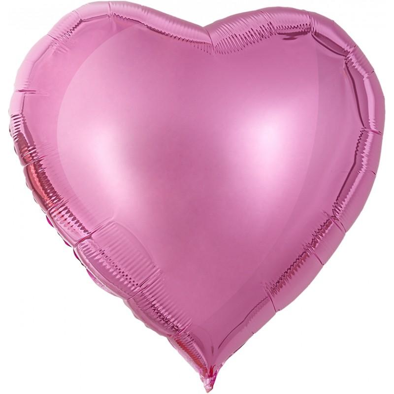 Сердце Розовый-нежный 76см