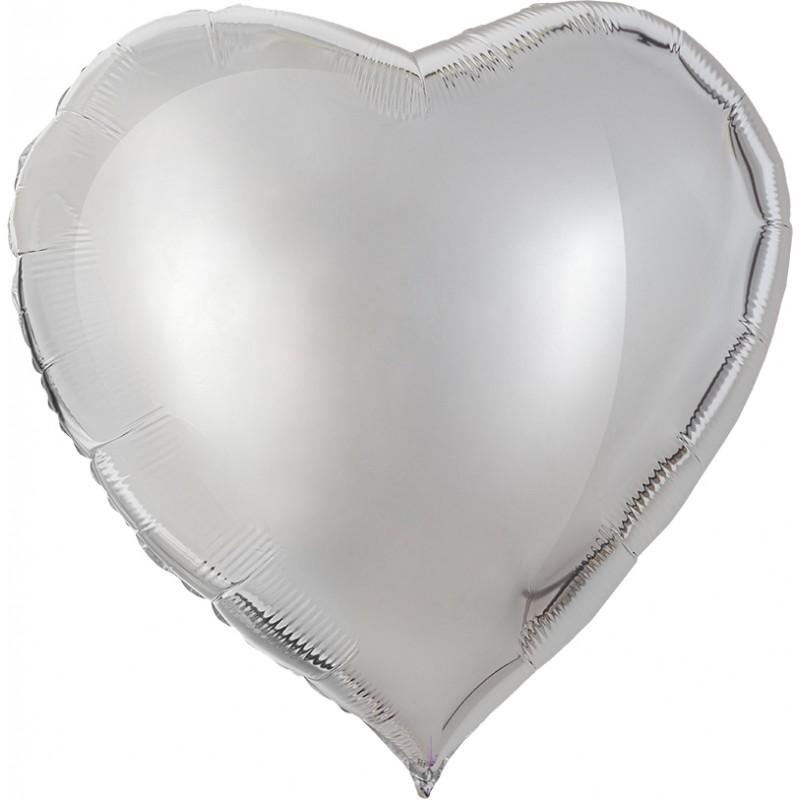 Сердце Серебро 76см