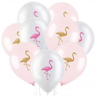 Облако из 15 шаров Фламинго 30 см