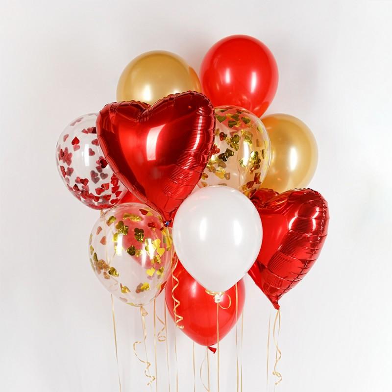 Фонтан из гелиевых шаров От всего сердца