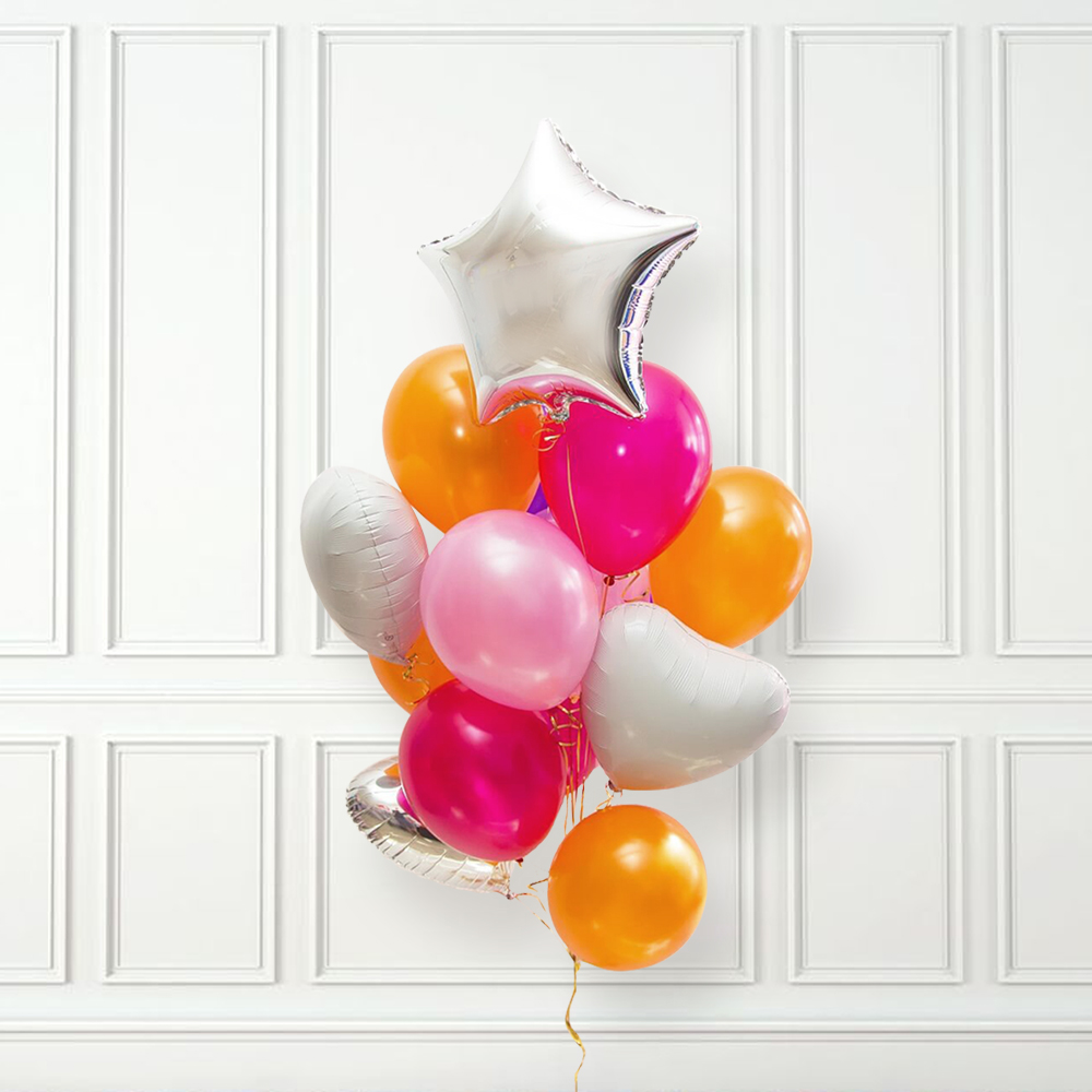 Разноцветное счастье Фонтан из шаров