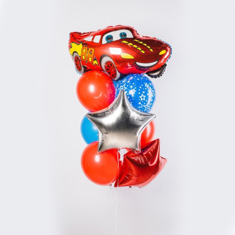 Веселый гонщик Фонтан из шаров