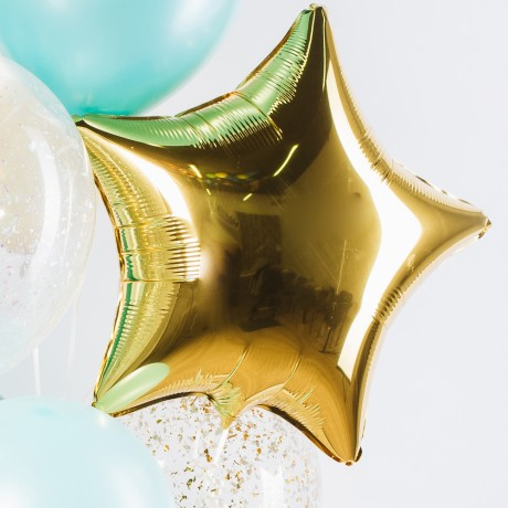 Бирюза и золото Фонтан из шаров