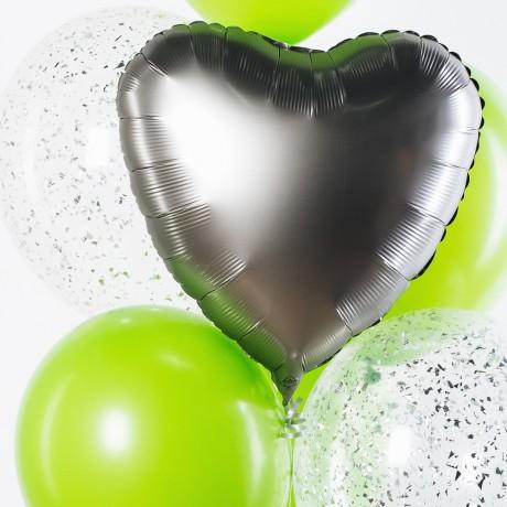 Летние Сердца Фонтан из шаров