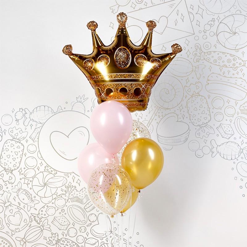Фонтан из гелиевых шаров Королева красоты