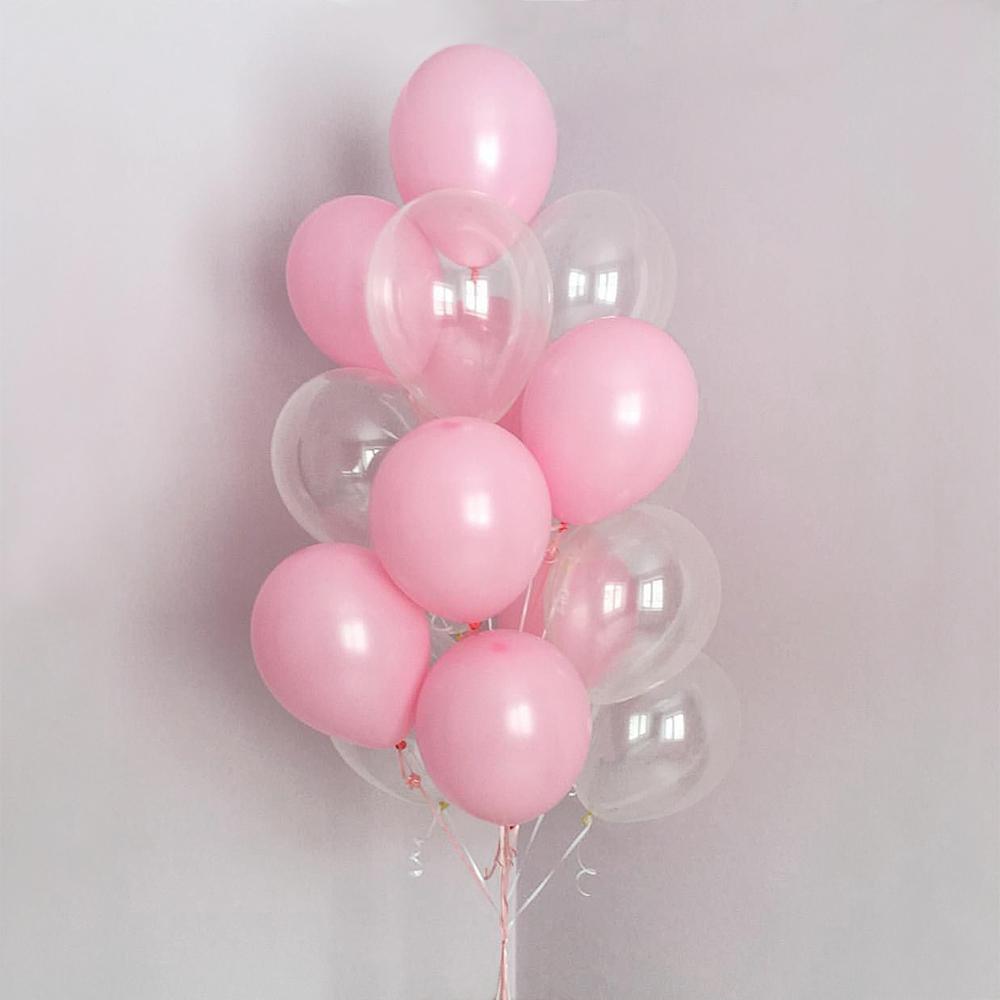 Розовый мир Фонтан из шаров
