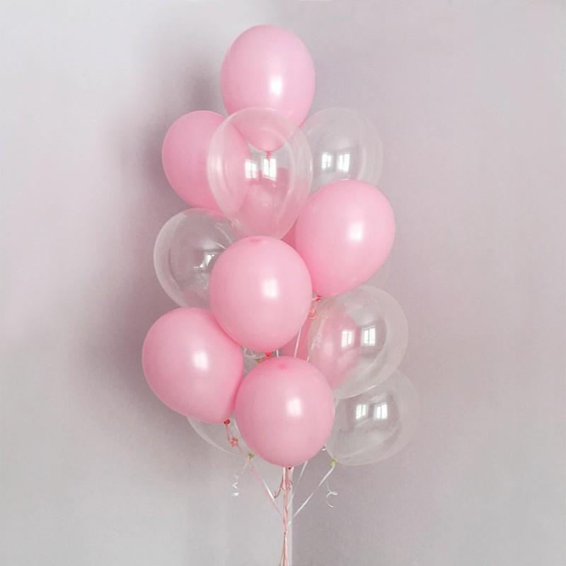 Фонтан из гелиевых шаров Розовый мир