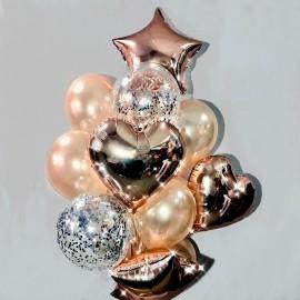 Розовый стиль Фонтан из шаров