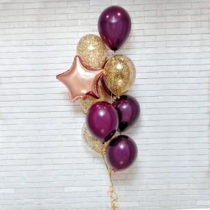 Золотой шик Фонтан из шаров