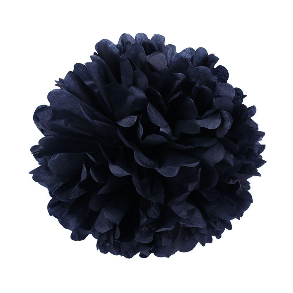 Черный 35см Помпон