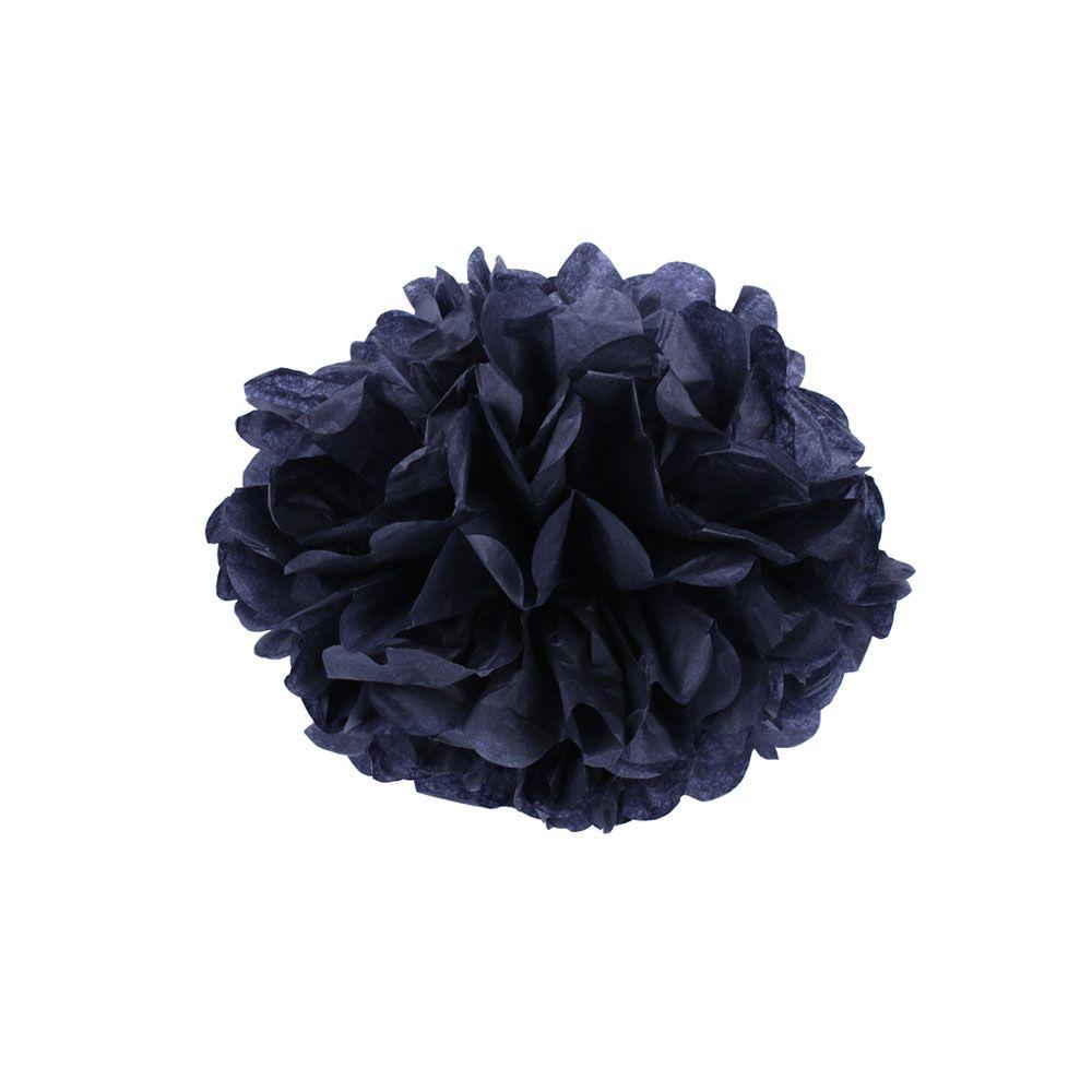 Черный 15см Помпон