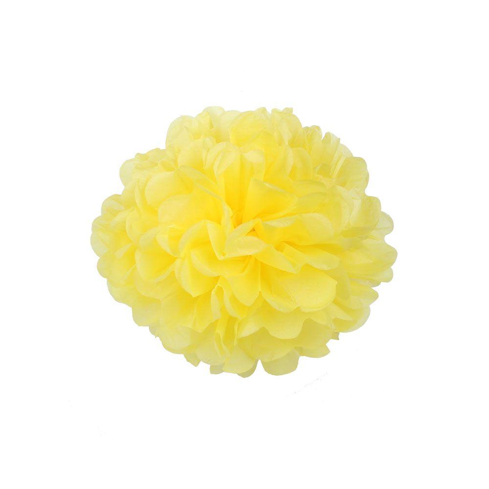 Желтый 15см Помпон