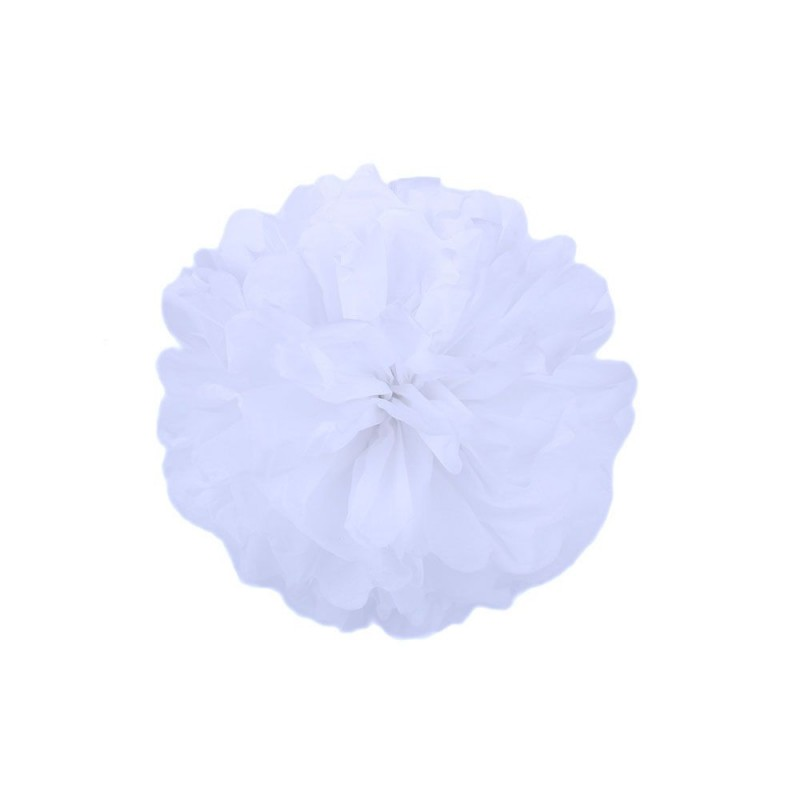 Белый 15см Помпон