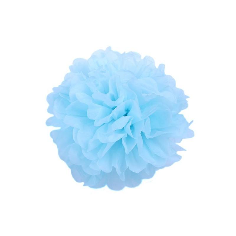 Голубой 15см Помпон
