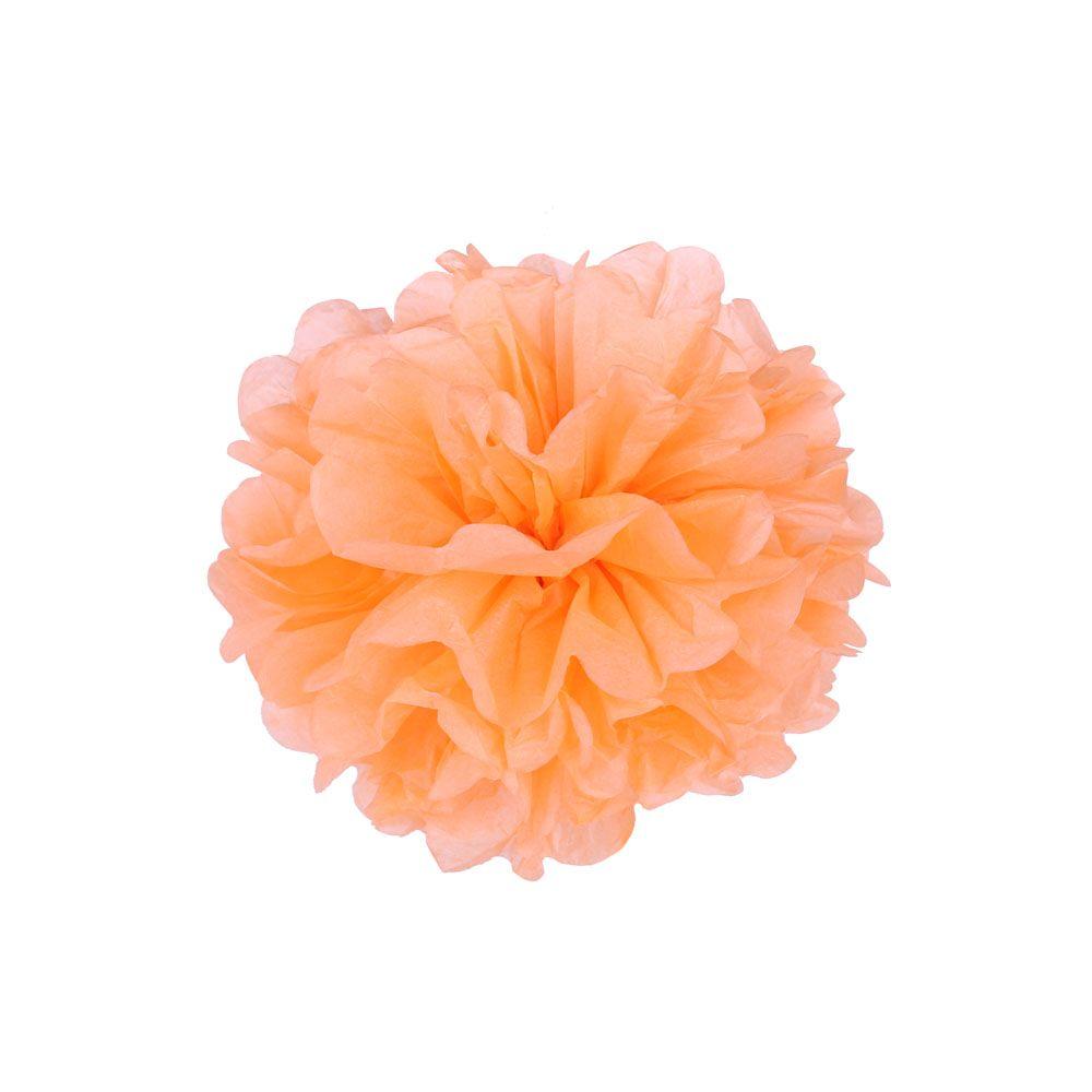 Светло-оранжевый 15см Помпон