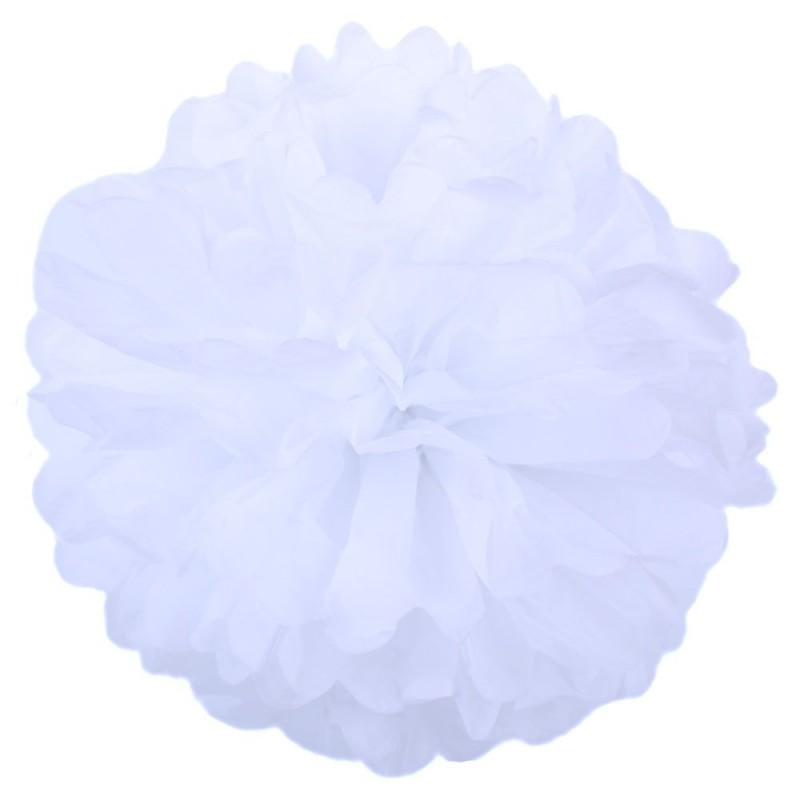 Белый 45см Помпон