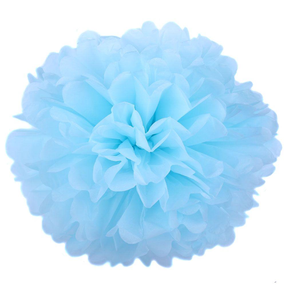 Голубой 45см Помпон