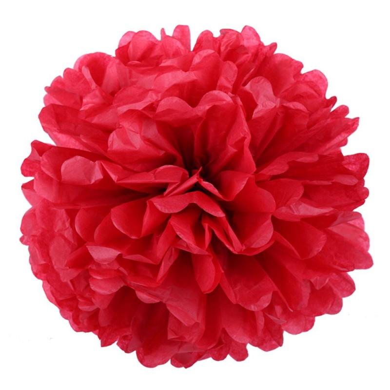 Красный 45см Помпон