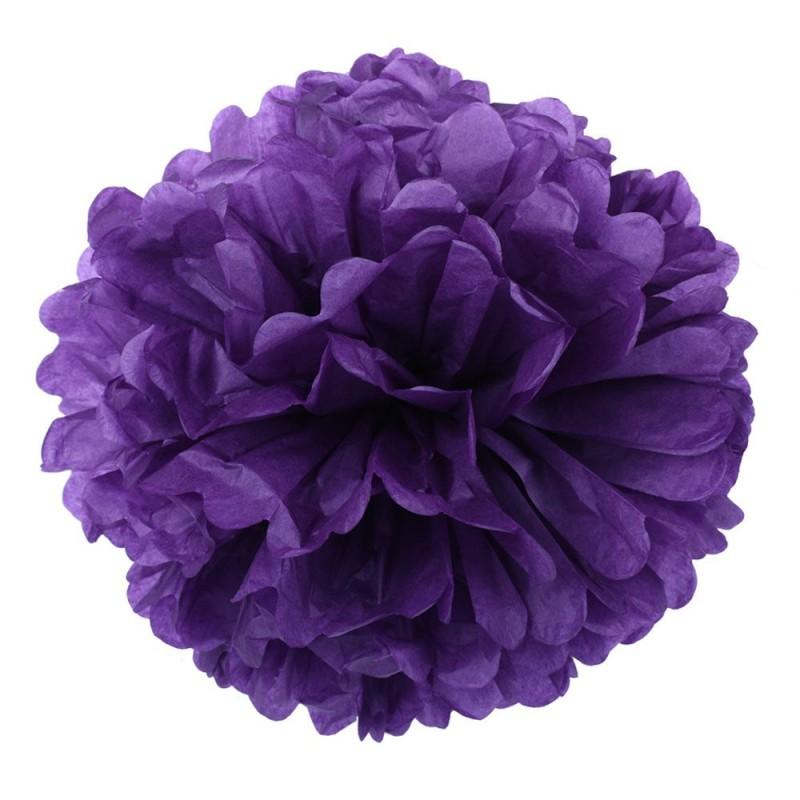 Фиолетовый 45см Помпон