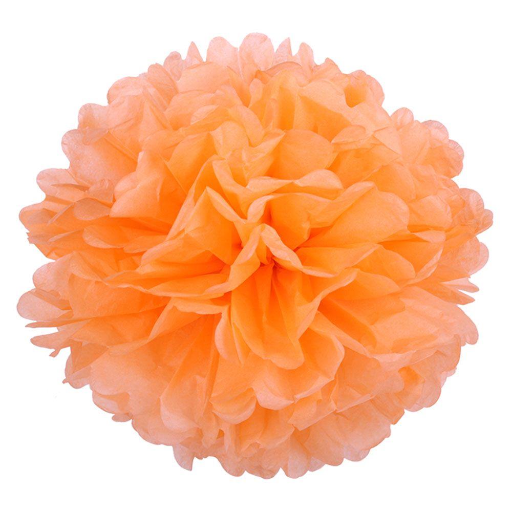 Светло-оранжевый 45см Помпон
