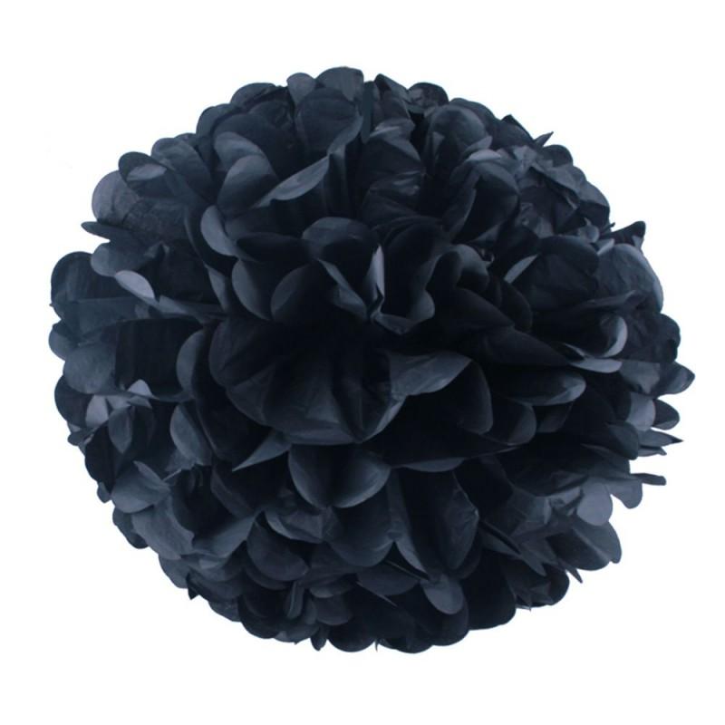 Черный 45см Помпон