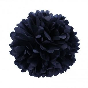 Черный 25см Помпон