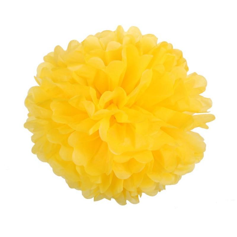 Ярко-желтый 25см Помпон