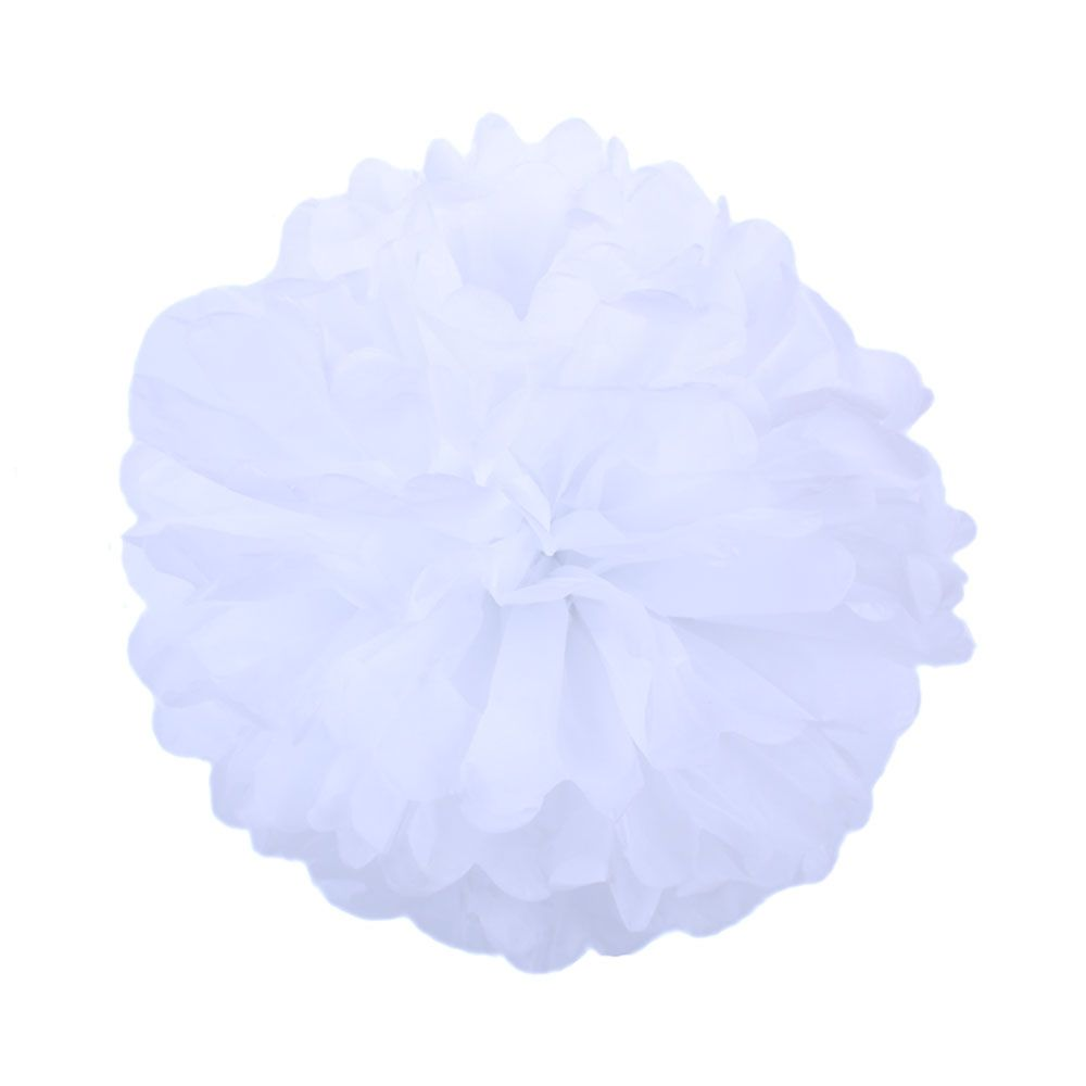 Белый 25см Помпон