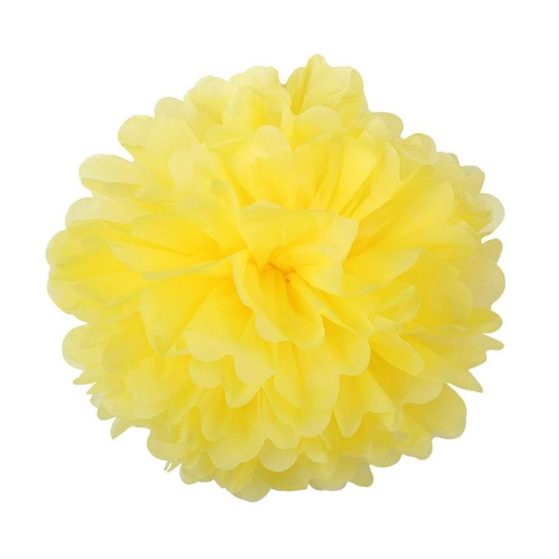 Желтый 25см Помпон