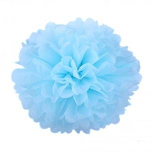 Голубой 25см Помпон
