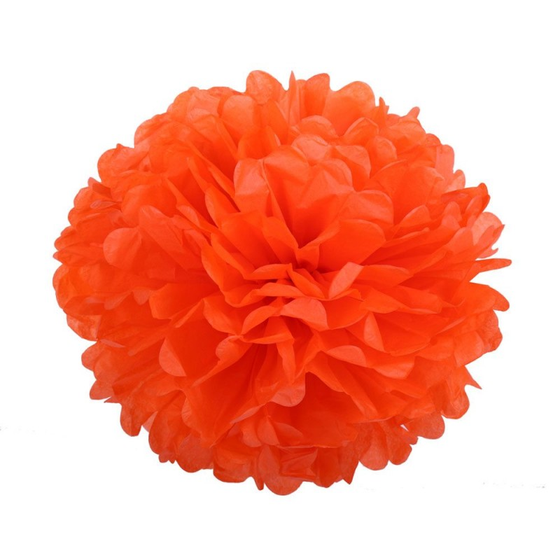 Оранжевый 25см Помпон