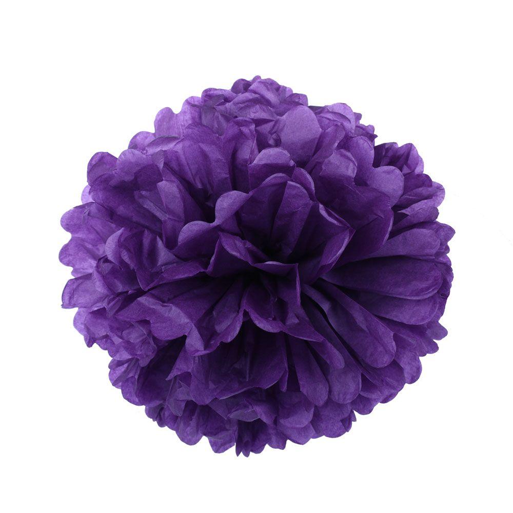 Фиолетовый 35см Помпон