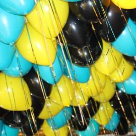 30шт Золотой дождик Шарики под потолок