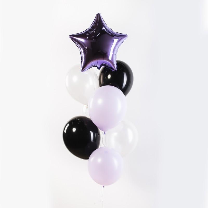 Фонтан из гелиевых шаров Черничные ночи