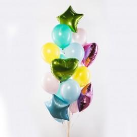 Яркий день Фонтан из шаров