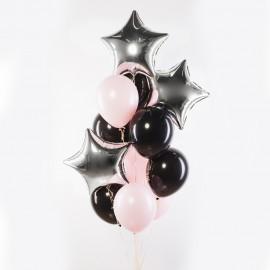 Розовый шик Фонтан из шаров
