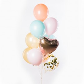 Нежное признание Фонтан из шаров