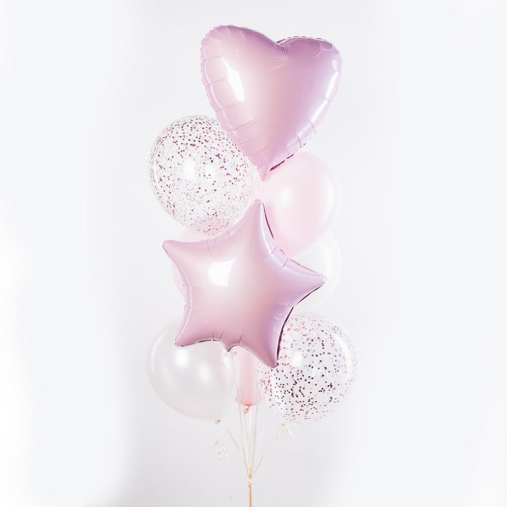 Розовый пунш Фонтан из шаров