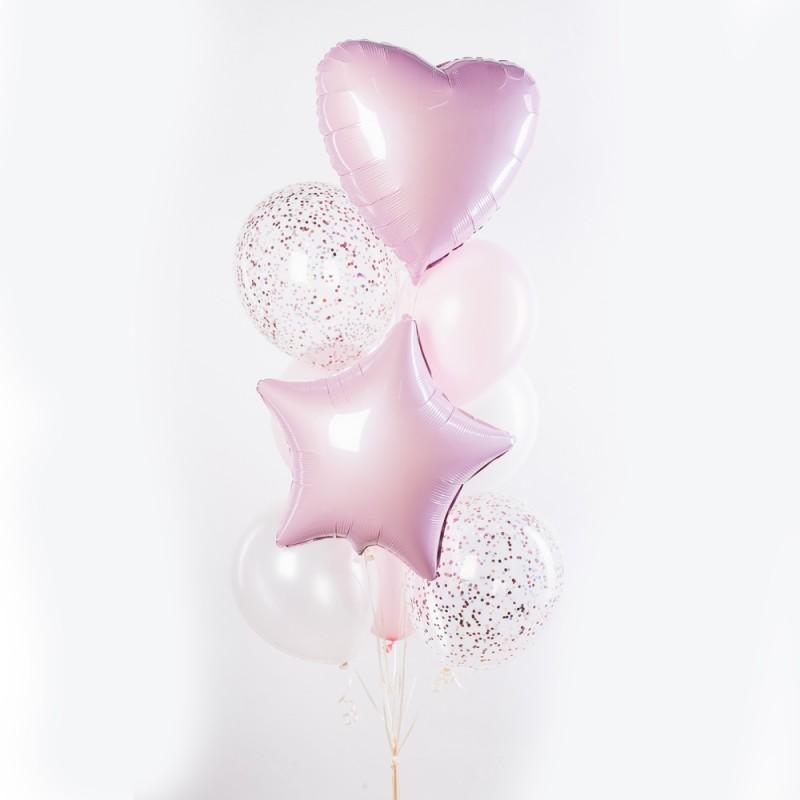 Фонтан из гелиевых шаров Розовый пунш
