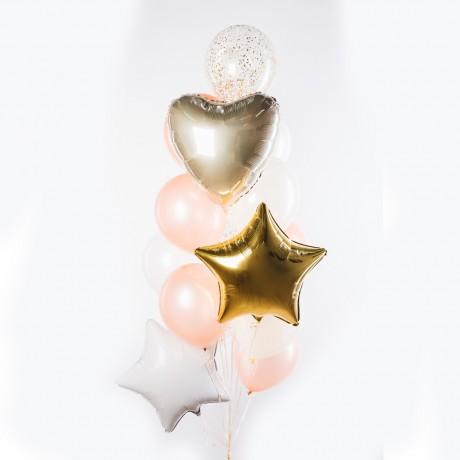 Брызги шампанского Фонтан из шаров