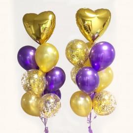 Контраст золота Фонтан из шаров