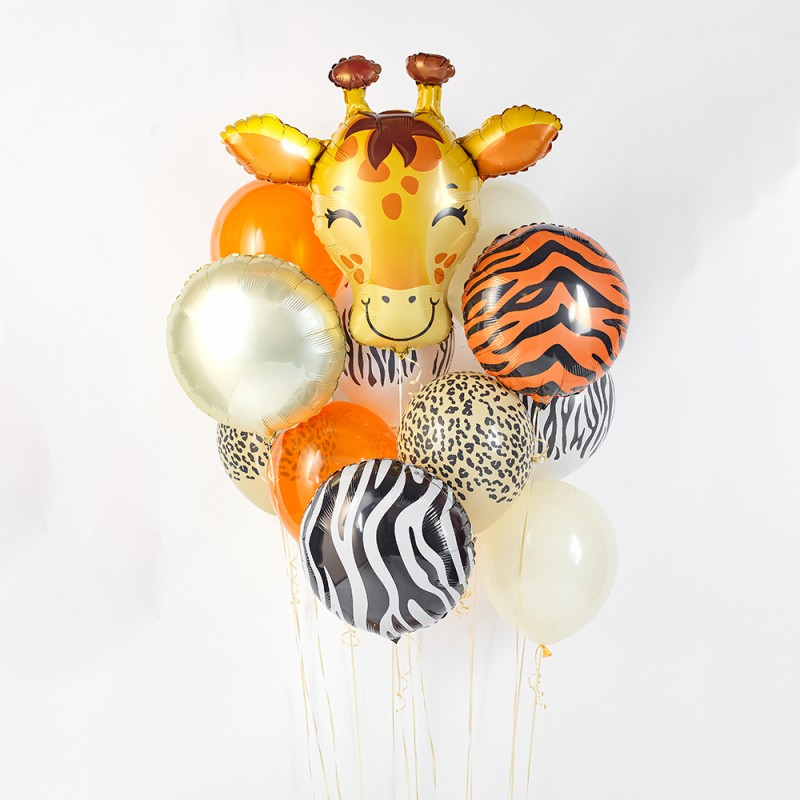 Фонтан из гелиевых шаров Жирафик