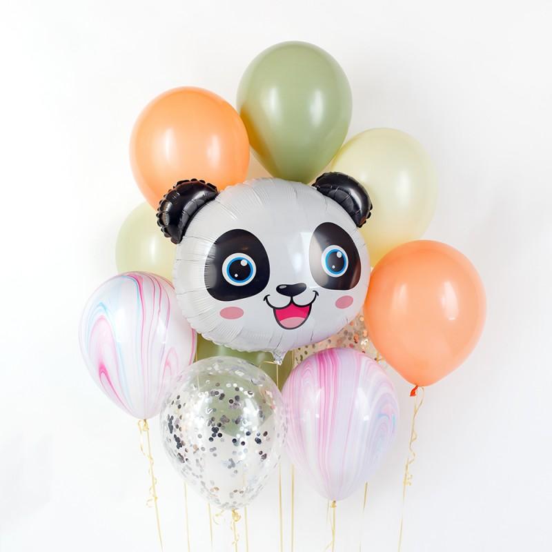 Фонтан из гелиевых шаров Панда
