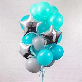 Бирюзовая мечта Фонтан из шаров