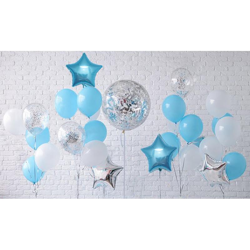 Набор воздушных шаров с гелием для фотозоны Boys day!
