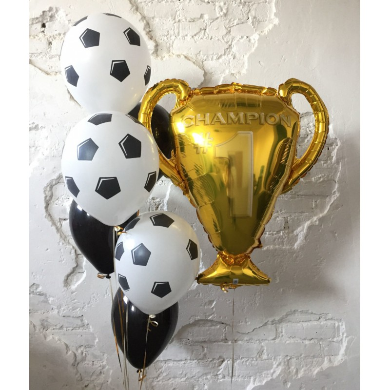 Фонтан из гелиевых шаров Победитель