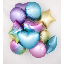 Радужные чувства Фонтан из шаров